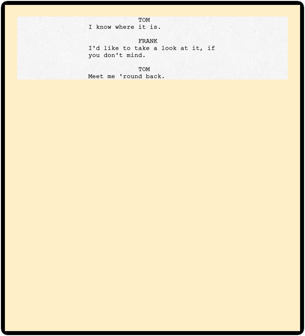 screenplay format guide character cues story sense